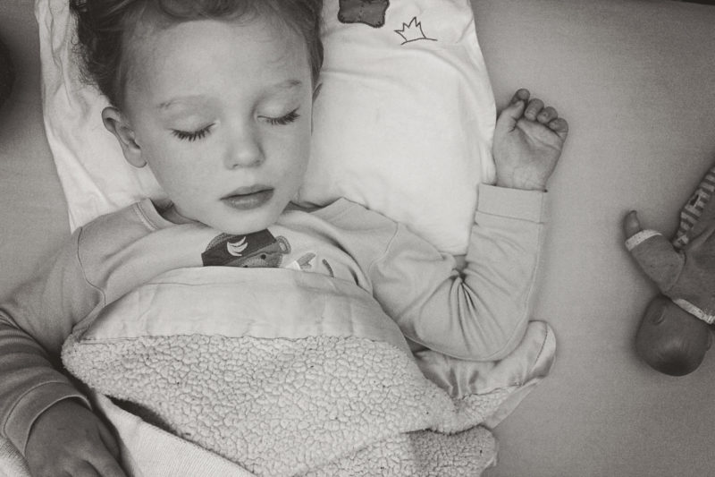 A toddler at rest